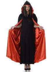 Vampir Kapuzen-Umhang Halloween-Cape schwarz-rot