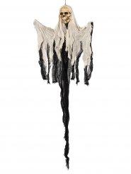 Fliegender Skelett-Geist Halloween-Hängedeko schwarz-beige 122x74x10cm
