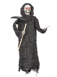 Gruseliger Sensenmann Halloween-Hängedeko schwarz-weiss 46cm
