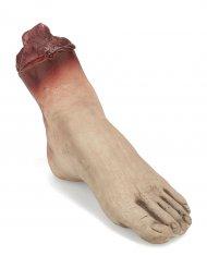 Abgehackter Leichen-Fuss Halloween-Deko hautfarben-rot 19x8x5cm