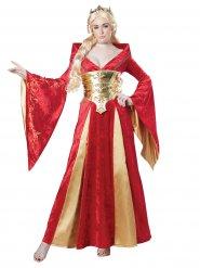 Mittelalter Königin Damenkostüm rot-gold