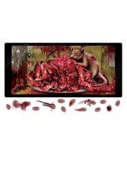 Gruselige Mäuse mit Hirn Mikrowellen-Poster Halloween Party-Deko bunt 61x30cm