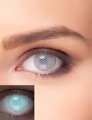 UV Halloween-Kontaktlinsen Kostüm-Accessoire grau