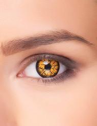 Monster Halloween-Kontaktlinsen Kostüm-Accessoire gelb-schwarz