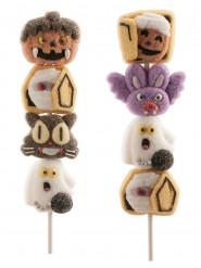Marshmallow-Spieß Halloween-Süßigkeiten bunt