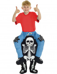 Skelett-Reiter Carry-Me-Kinderkostüm schwarz-blau-weiss