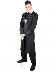 Dämonischer Vampir Halloween Kostüm für Herren schwarz-grau-weiss