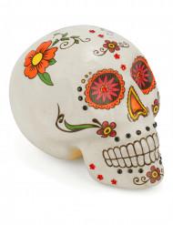 Dia de los Muertos Totenschädel Halloween-Partydeko bunt 15 x 10cm