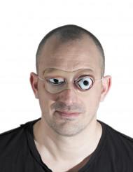 Schaurige Augen Halloween-Maske Kostüm-Accessoire hautfarbe-weiss