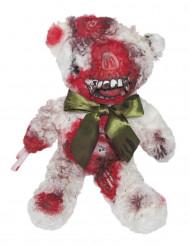 Gruseliger Zombie-Teddybär Halloween-Partydeko weiss-rot