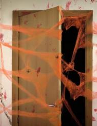 Spinnennetz mit Spinnen Halloween-Deko orange 20g