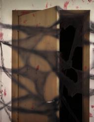 Halloween Deko-Spinnennetz mit Spinnen schwarz 20g