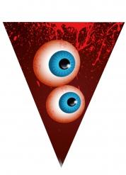 Halloween-Girlande mit Augen und Blutspritzern Partydeko bunt 190cm