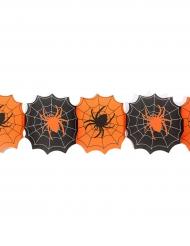 Waben-Girlande Spinnen schwarz-orange 240 cm