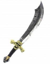 Piratensäbel Halloween-Waffe Kostümzubehör silber-beige-schwarz 69cm