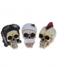Berufe Deko-Totenschädel Halloween-Partydeko beige-bunt 7 x 13 x 14cm
