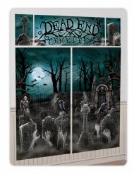 Gruseliger Friedhof mit Zombies Halloween Wanddeko-Set 5-teilig bunt