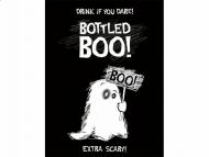 Lustige Gespenster Flaschenttiketten Halloween-Tischdeko 10 Stück schwarz-weiss 9,5 x 12,5cm