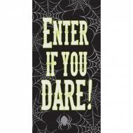 Türdeko Enter if you dare schwarz-gelb-grau