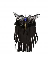 Leuchtendes Skelett Halloween-Hängedeko schwarz-grau 120cm