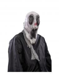 Schreiender Geist Halloween-Maske Phantom grau-schwarz