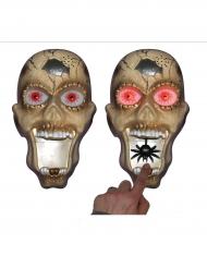 Zombie Türklingel Halloween-Partydeko mit Spinne bunt