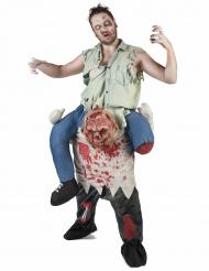 Schauriger Zombie Carry Me Halloweenkostüm für Herren bunt