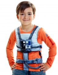 Star Wars™ Kinder-Shirt Luke Skywalker Lizenzware orange-silber