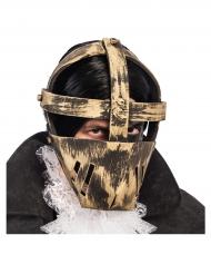 Gefangenen-Maske Horror-Maske beige-grau