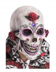 Dia de los Muertos Totenschädel-Maske Halloween-Accessoire weiss-bunt