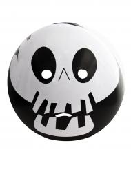 Skelett-Emoticon Halloween-Maske schwarz-weiss