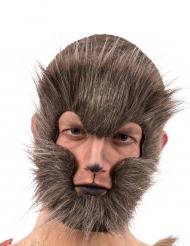 Haariger Werwolf Halloween-Maske Kostüm-Accessoire braun