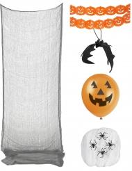Klassisches Halloween Deko-Set 5-teilig orange-schwarz
