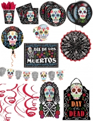 Dia de los Muertos Partydeko-Set für Halloween 13-teilig bunt