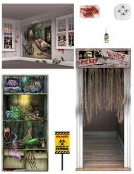 Mega Zombie Deko-Set für Halloween 7-teilig bunt