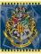 Harry Potter™ Geschenkbeutel mit Hogwarts-Motiv blau-gelb 18,5x22,5cm