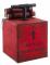 Animierte Sprengstoff-Dekoration rot-schwarz 15 x 15 x 24 cm