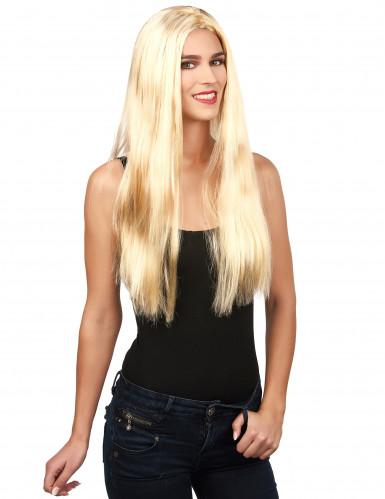Zauberhafte Halloween Langhaar-Perücke blond