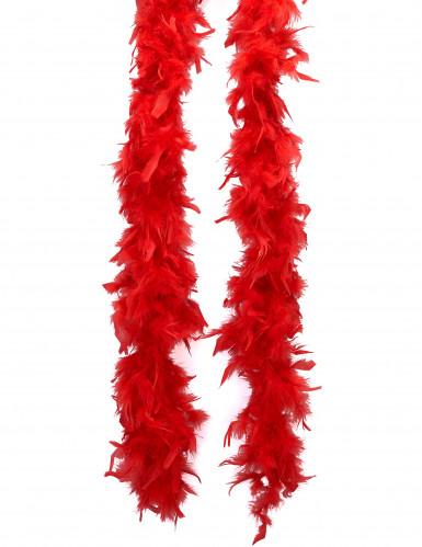 Feder Boa Kostümzubehör rot 180cm