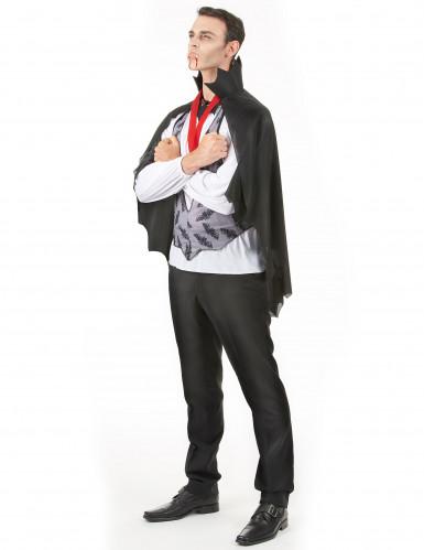 Vampir Halloween-Kostüm Dracula schwarz-grau-rot-1