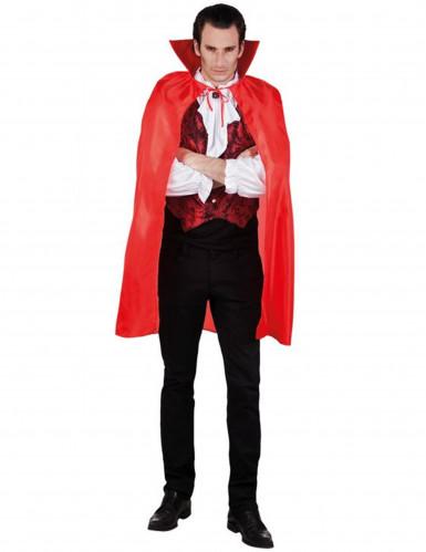 Vampir Umhang Blutsauger Zubehör rot 120cm