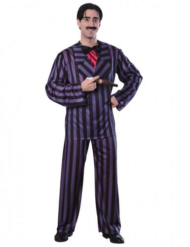 Gomez-Herrenkostüm Addams Family™ Lizenzkostüm lila-schwarz