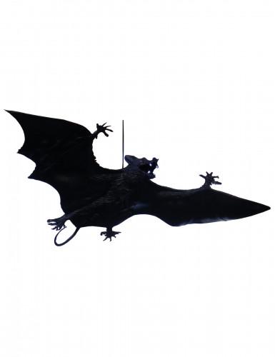 Halloween-Fledermaus zum Aufhängen Halloween-Deko schwarz 23 cm
