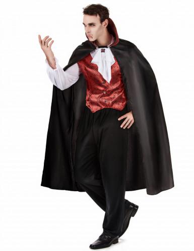 Vampir Blutsauger Halloween Herrenkostüm schwarz-bordeaux-1