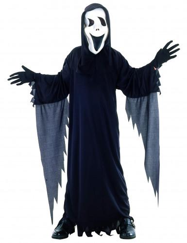 Dunkles Geister-Kostüm Halloween-Kinderkostüm schwarz-weiss