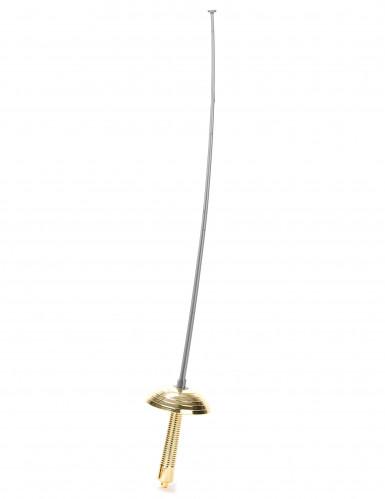 Florett Spielzeug-Waffe silber 60 cm