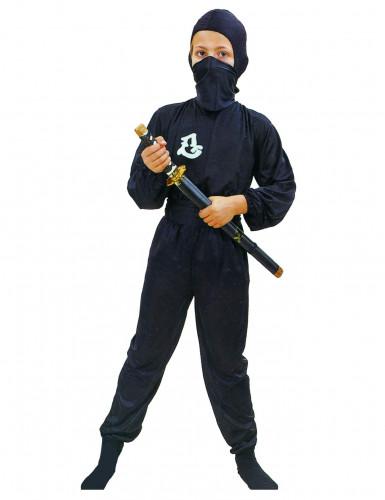 Ninja-Kostüm Krieger für Kinder Jungenkostüm schwarz