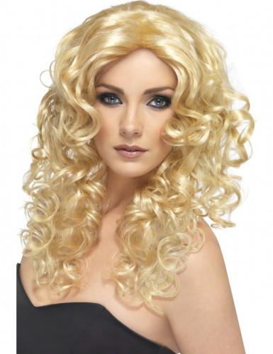 Filmstar Locken-Perücke blond