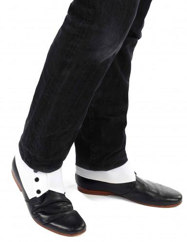Gamaschen für Schuhe Kostüm-Zubehör weiss