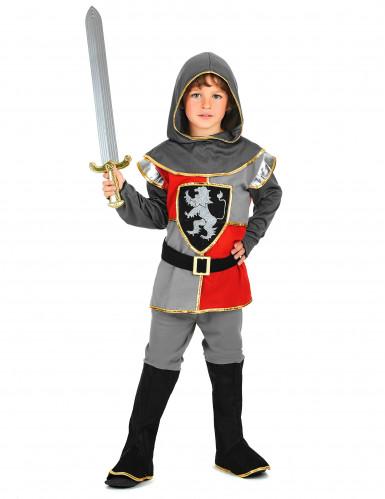 Ritter-Kostüm für Jungen Halloweenkostüm schwarz-grau-rot